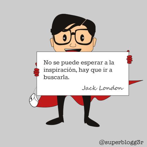 Frase sobre la inspiración de Jack London